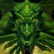 зелёный  дракон on My World.
